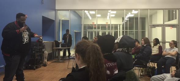 Ronnie Jordan entertains his audience.