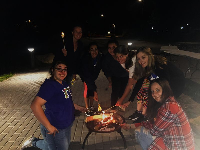 Students roasted s'mores during P4K's kick-off.
