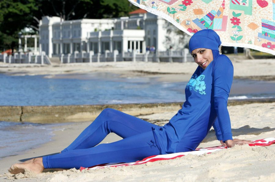 Marks & Spencer launched a line of burkinis that have been the center of quite a bit of controversy. (Photo courtesy of Metro)