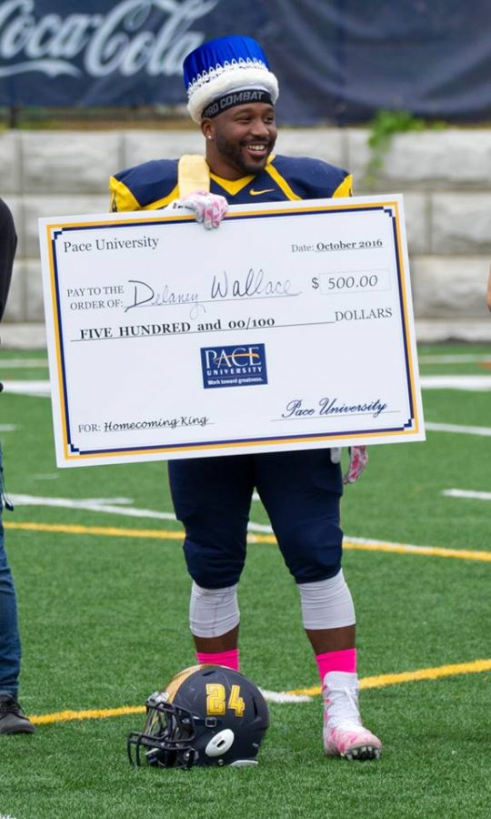 Delaney Wallace was voted Homecoming King Sat., Oct. 8. Photo from Pace Setters Facebook page.