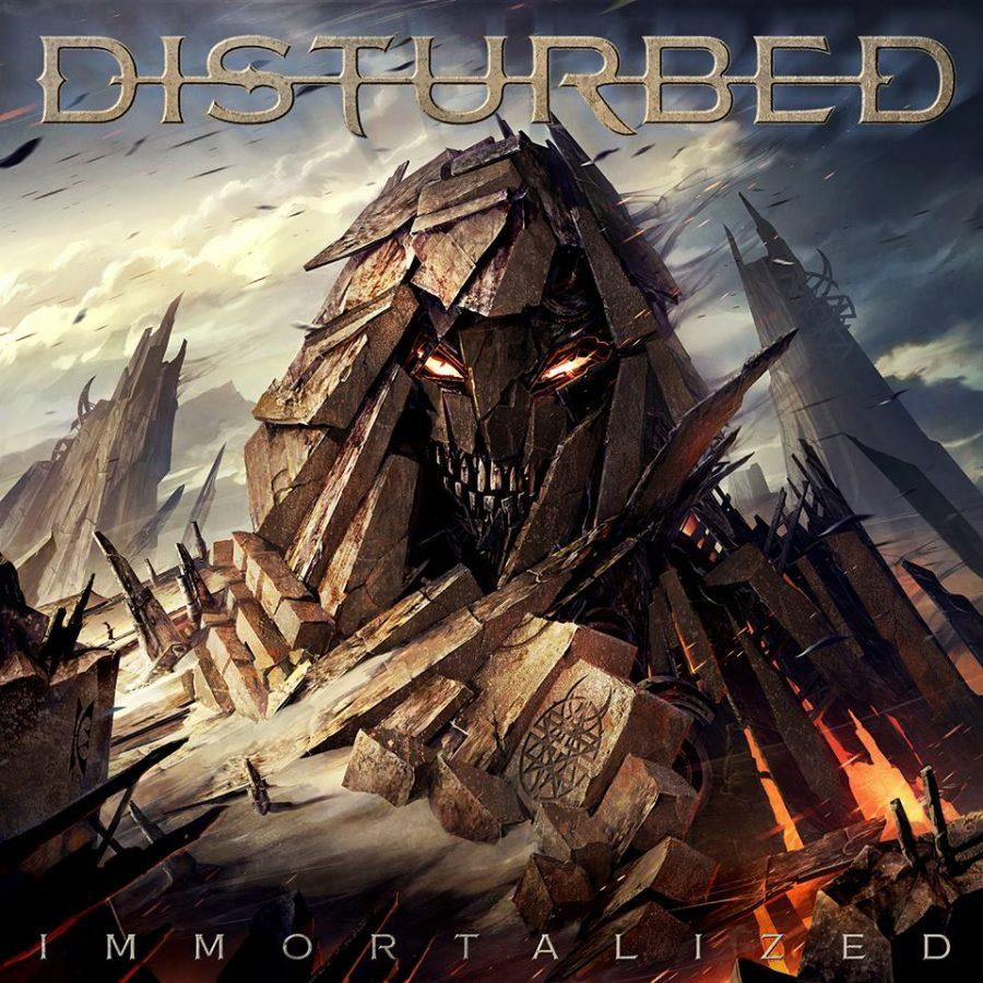 The cover for Disturbed's newest album