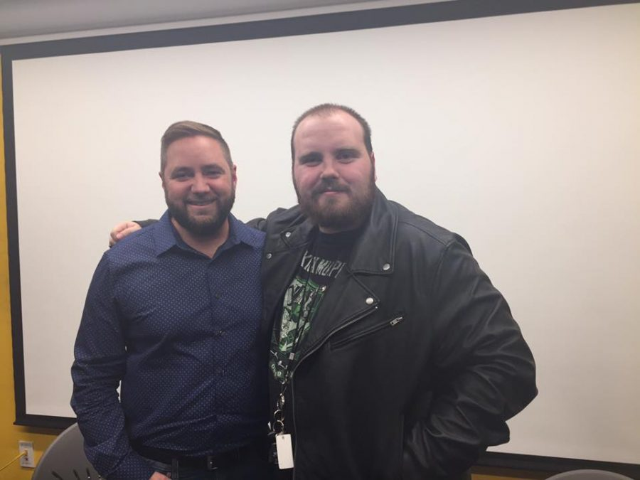 Actor Michael Williams with fan Jermey Langdale. (Photo courtesy of Jermey Langdale)