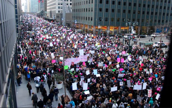 NYC Women's March, January 21st, 2016 Courtesy of DNAinfo.com