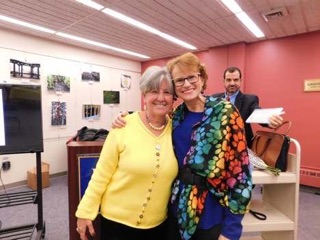Dr. Susan Maxam (right) credits Dr. Ellen Mandel (left) with not only curing her from cancer, but aiding her as a friend and a person ever since they first met in 2000. Photo by James Miranda/The Pace Chronicle.