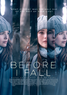 Before I Fall movie poster. Courtesy of Google Images.