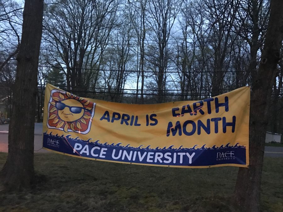 A identical banner to the one stolen found near Entrance 2. Photo by Joseph Tucci.