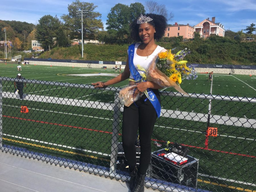 Keyshana Dupuy after being crowned homecoming queen.