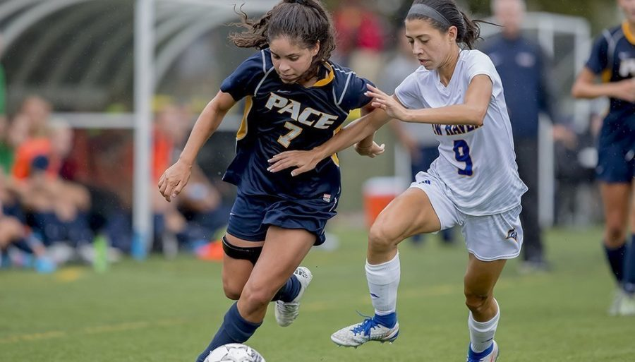 Pace Women's Soccer has begun the year 6-6-1. Photo Courtesy of Pace U Athletics.
