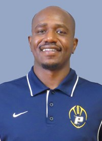 Running Backs Coach Wali Lundy still holds records in college football. Photo Courtesy of Pace U Athletics.
