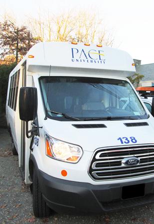 Pace University bus. Courtesy of google.