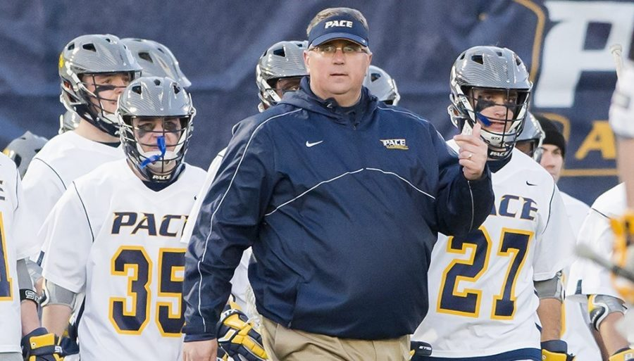 Pace Men's Lacrosse Coach Tom Mariano and the Setters look to build upon their previous season's 12-4 record. Photo Courtesy of Pace U Athletics.