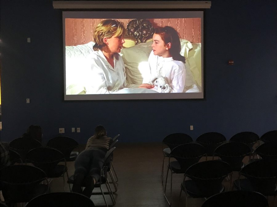 """Students enjoy """"the Parent Trap,"""" during RHA's debut event. Photo by Stefano Ausenda"""