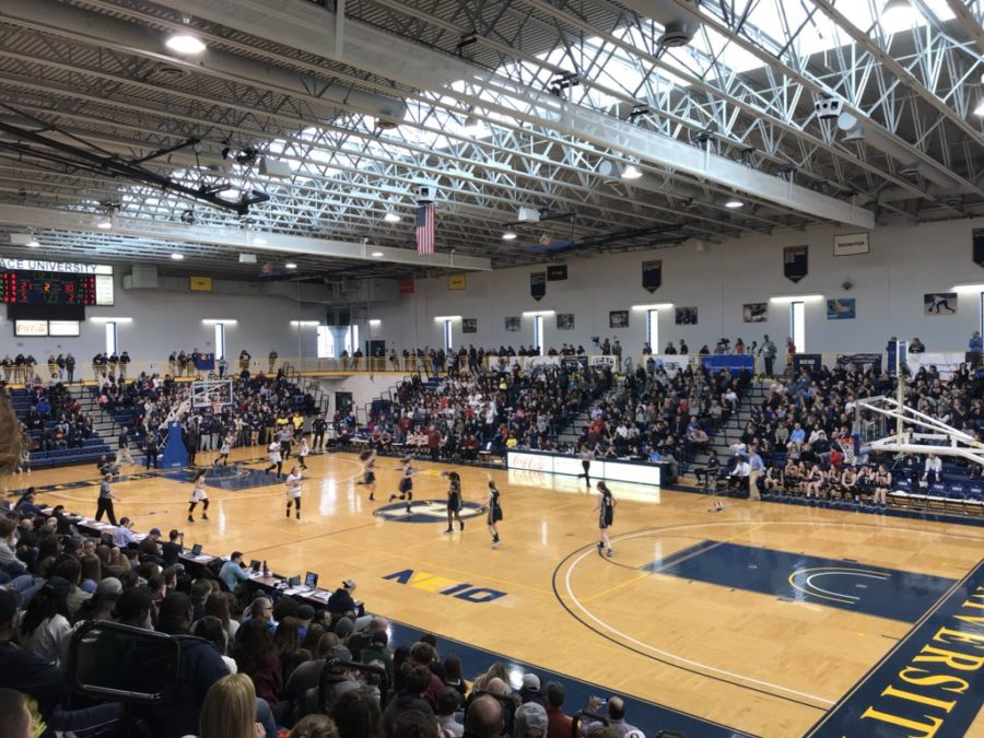 The Goldstein Fitness Center was a full house for the Section 1 Basketball championship games over the weekend. Photo Courtesy of Kwadar Ray.