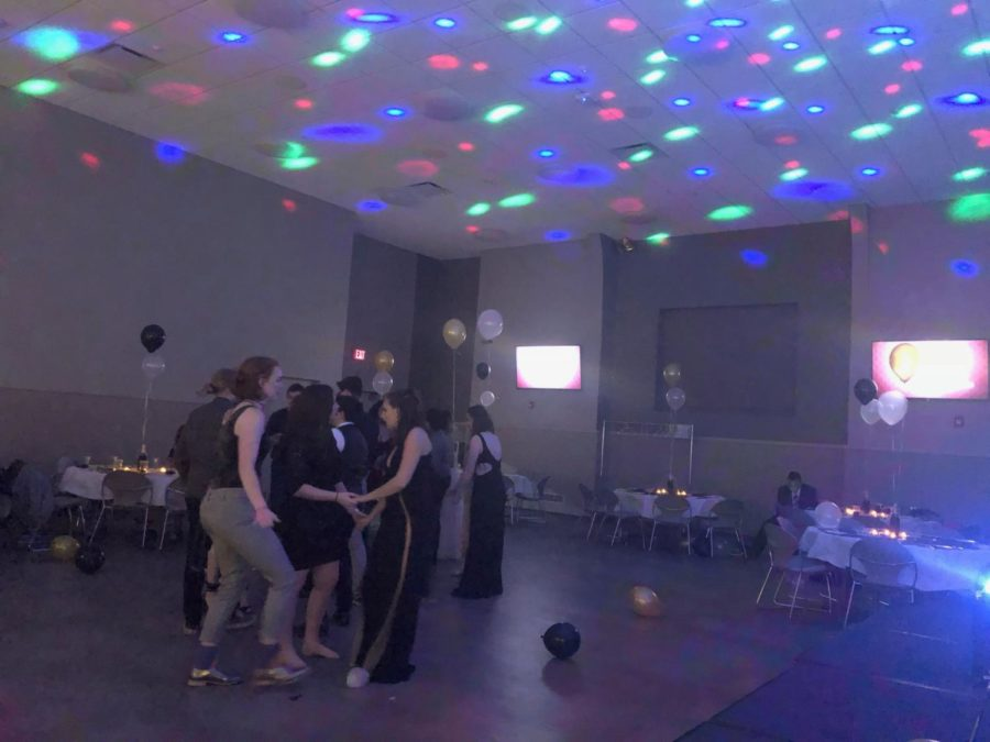 Students on the dance floor of Pride Prom.