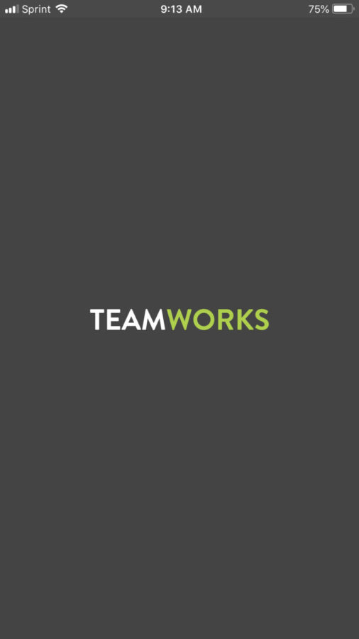 Team+Works+the+app+used+by++the+athletics+department+to+communicate+with+its+athletes.+Photo+taken+by+Josiah+Darnell.+