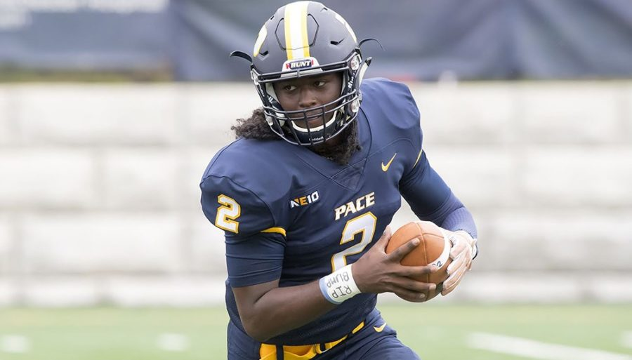 Carlton Aiken mixed nice passes with multiple elusive runs in a 487-yard night for the Setters.