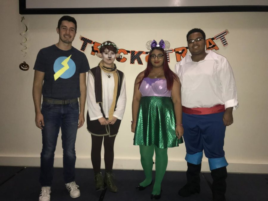 Wills (second from the left) and her costume as Bambi.