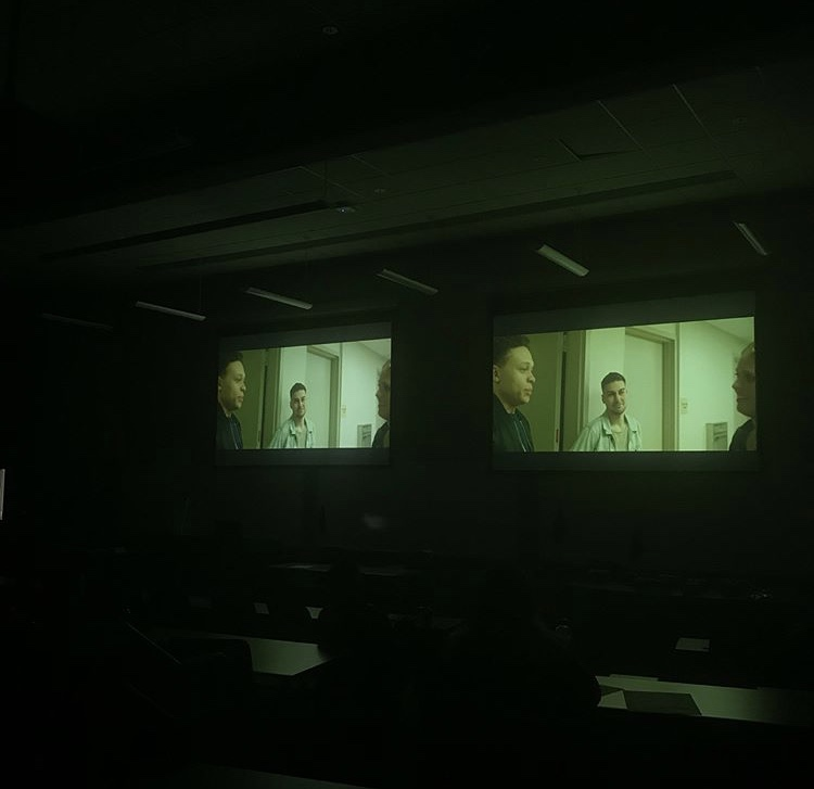 The showing of Pace graduate's Nicholas Goodwin's film during last year's MCVA showcase.