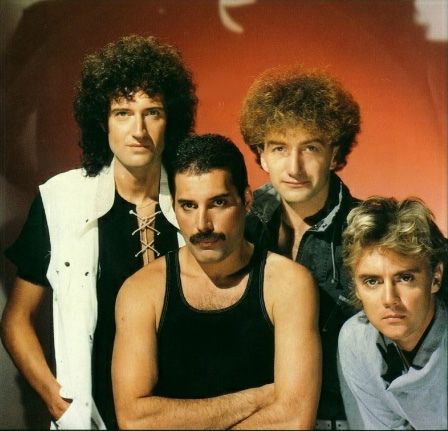 Queen members (from left to right) Brian May, Freddie Mercury, John Deacon and Roger Taylor.