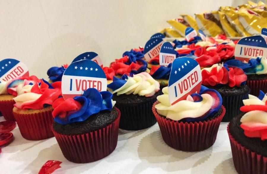 Cupcakes offered at the event.