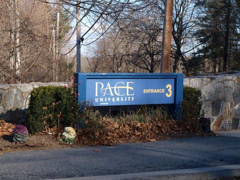 Pace University Entrance three Pleasantville campus. The most used entrance on the Pleasantville Campus.