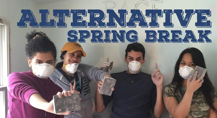 Pace's Alternative Spring Break allows student to engage in the vital rebuilding project for those still impacted by Hurricane Sandy.