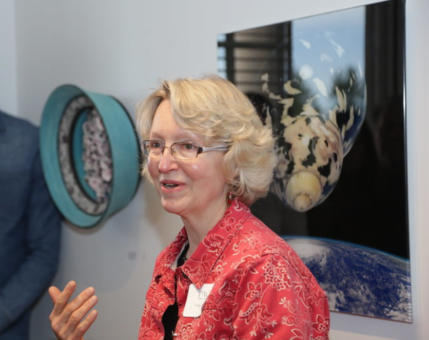 Professor Vicky Youngman was among many professors who introduced their work to the Pace community at last Wednesday's Faculty Art Show to commemorate the opening of the new Choate House Gallery.