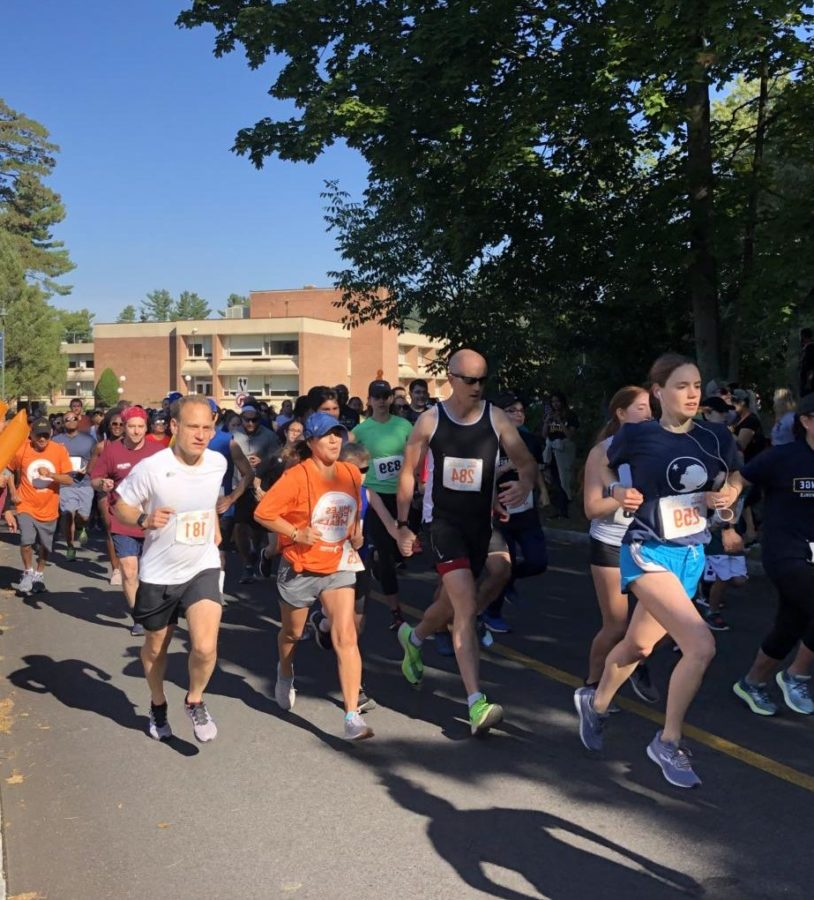 Participants at the very beginning of Feeding Westchesters Miles for Meals 5K walk and run event, on Sunday, September 22nd, at Pace University Pleasantville campus