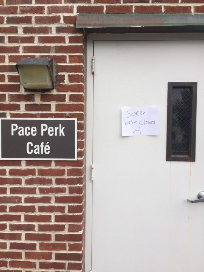 Pace Perk Cafe Fire Hazard forced Evacuation of Martin Hall