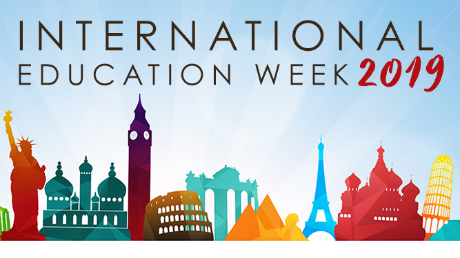 Happy International Education Week, at time that celebrates the benefits of international education, studying abroad, and exchange programs