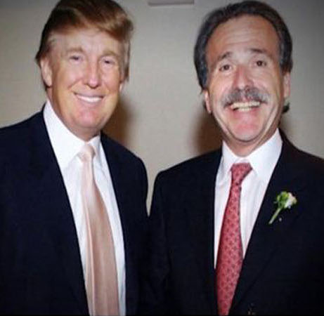 David Pecker with Donald Trump.
