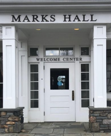 Marks Hall is home to the welcome center and used to be the first impression future Setters saw on the Pace Pleasantville campus. However due to COVID-19, many tours are conducted over zoom or in a drive-thru format.