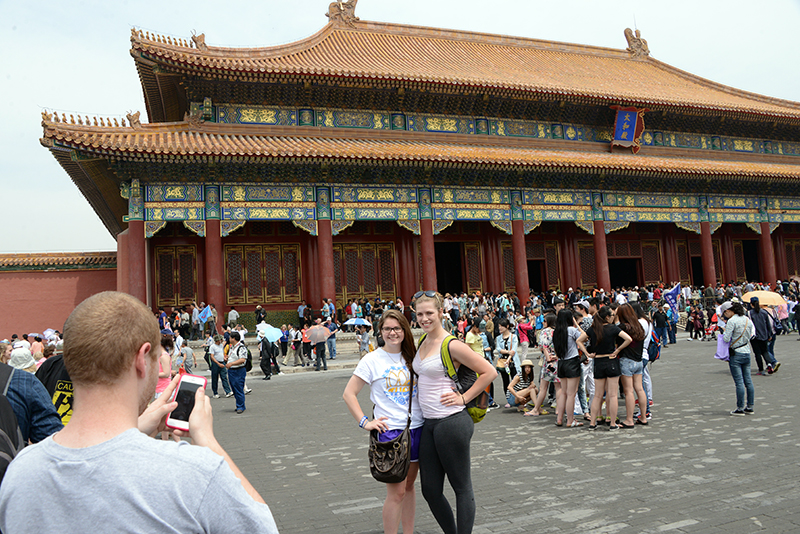 Penn State students tour China as part of a summer study abroad program during the summer of 2014.