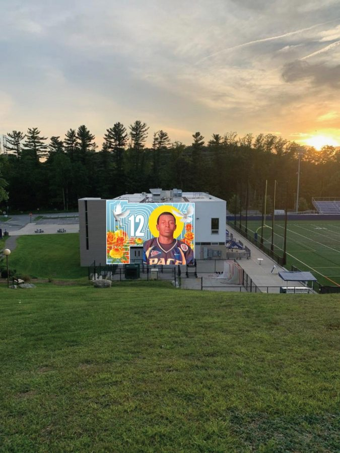 In honor of the tenth anniversary of DJ Henry's death, RHA is working to commission a mural in his honor on the side of Ianinello Field House. Once completed, this is what it would look like.