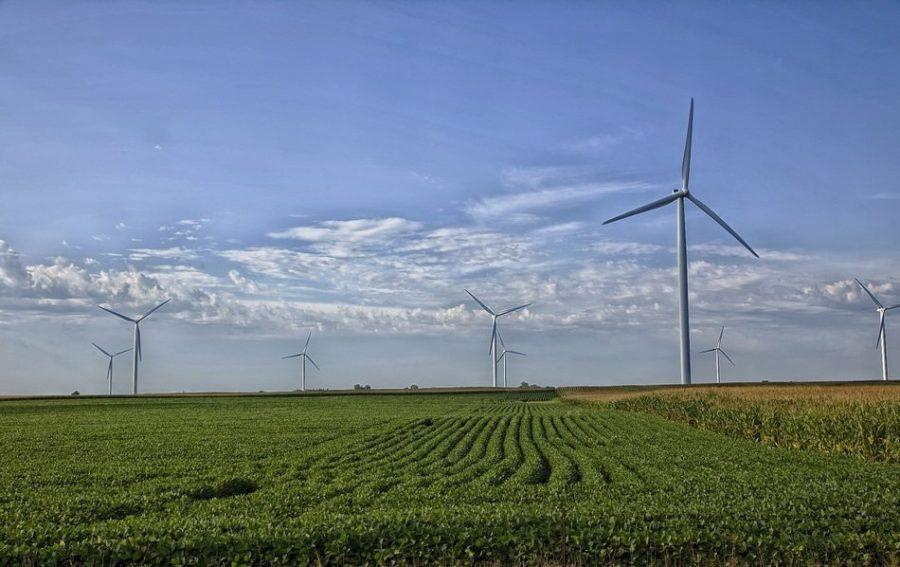 Wind turbines in Missouri.