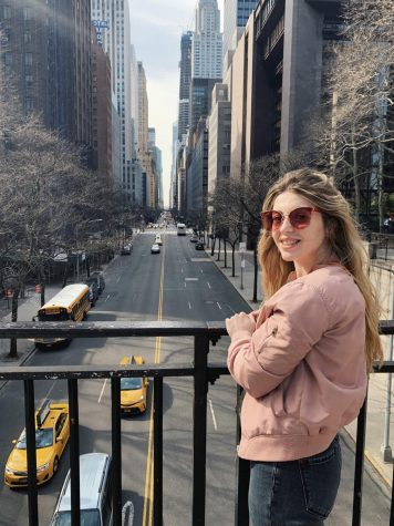 Marta Hasny poses in Manhattan. Hasny traveled to explore the streets of the city every week. (Courtesy of Marta Hasny)